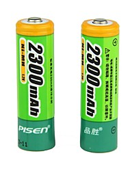 Baterías Pisen 2300mAh Ni-MH AA recargables (2-Battery Pack)