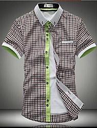 Moda de Alta Qualidade Big flor de manga curta camisa dos homens