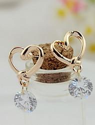 Mjl Beautiful HighGrade Korean Jewelry Love Zircon Earrings