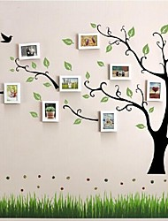 Bianco Photo Frame Set di 10 con Wall Sticker