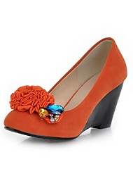 Women's Wedge Heel Pumps With Flowers Shoes(More Colors)