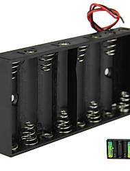 DIY 12V 8 x AA Battery Holder ABS cassa della scatola con cavi