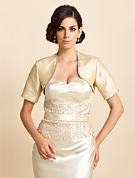 Wedding / Party/Evening / Casual Taffeta Coats/Jackets Half-Sleeve Wedding  Wraps