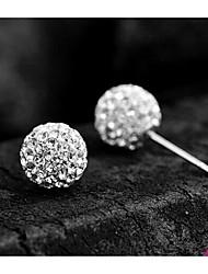 Sillove Women's Fashion Shambhala Rhinestone Stud Earrings