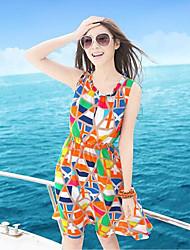 El One & Only nuevo estilo de las mujeres de la gasa de comprobar los colores Dress X6007935