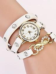 c & d mode 2014 femmes de cru en cristal de bracelet de cuir montres strass XK-167