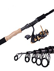 2.4M Carbon Black Sea Fishing Medium Light Canna da pesca