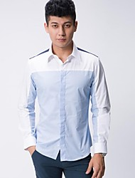 Male Long Sleeved Casual Business Shirt