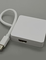 coosbo® Masculino Mini Display Soquete para Display Soquete HDMI fêmea e um cabo adaptador DVI para o ar macbook pro retina