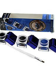 Lápis de Olho Creme Molhado Preta / Marrom / Azul Olhos 3pcs 3