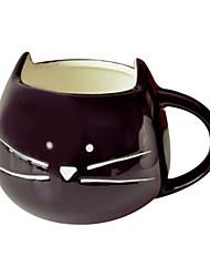 "Cerâmica 300ml Inovador Pattern Cat Cup, 5.1 ""x4.3"" x3.7 """