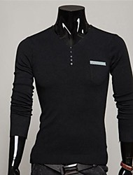 Men's Casual Fashion  V  Collar Sweater A