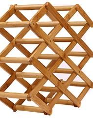 superbpag ® elegante bambu ambiental pé escalável e dobradura livre bancada vinho 8 garrafas