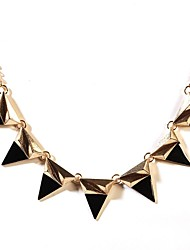 cadeia de resina do metal do vintage colar comunicado conjunto funky para mulheres