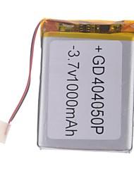 3.7V 1000mAh de litio polímero de litio para teléfonos móviles MP3 MP4 (4 * 40 * 50)