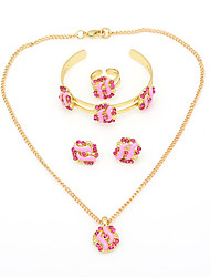 WesternRain Women's Gold-plated  children's Jewelry Set