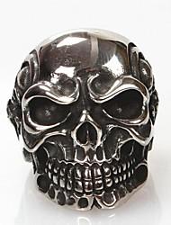 Maxi anel bijuterias Aço Titânio Caveira Jóias Para Diário Presentes de Natal