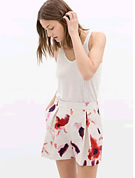 Esperar estilo chinês padrão de impressão calças curtas