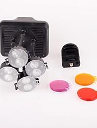 Стрелять XT-4 камеры светодиодные лампы видео лампы 8 х 2 Вт лампы 6300K Цветовая температура для Canon Nikon DV камеры видеокамеры