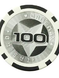 $100 Pentagram ABS Mahjong Chips Entertainment Toys