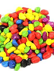 100g Pierres décoratives colorées pour la décoration d'aquarium