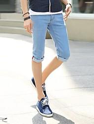 St.Antonio ™ Männer beiläufige dünne Hose gerade Jeans Denim Blue Jeans