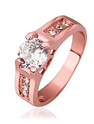 18 K Rose Gold Plated Ring/Promis Rings For Couples