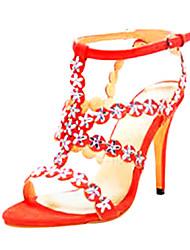 bc funkelnden Glitter Frauen Pfennigabsatz Sandalen Schuhe