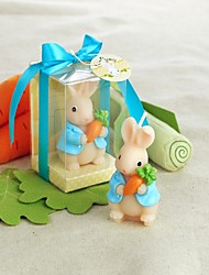 Baby Shower Carrot Rabbit Candle