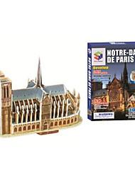 Educatief speelgoed Magic puzzel Notre Dame de Paris Model 3D puzzel voor kinderen en volwassen puzzel (39PCS, B668-6)
