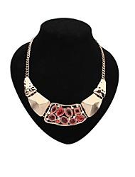 métal de mode de collier de diamants de dossard des femmes