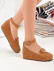 rodada salto plana apartamentos toe sapatos femininos (mais cores)