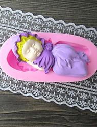 Bebé en forma de molde de la torta Hornee Fondant, L10cm * W5cm * H2cm