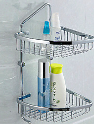 Contemporary 304 Stainless Steel Double-layer Soap Basket