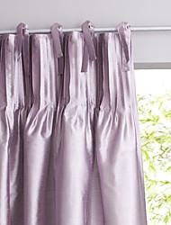 (Un panneau supérieur de cravate) lavande moderne et minimaliste panne solide rideau