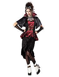 Punk Vampire Red & Black Terylene costume di Halloween delle donne