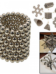 216PCS/Set Educational Magic Cubes NdFeB Magnet Balls 3MM Silver Cube DIY Toys With Tin Box