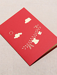 Three-dimensional Clothes Hanger Greeting Card (More Colors)