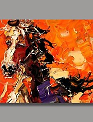 Hand Painted Abstract Horse Oil Painting with Stretched Frame Ready to Hang