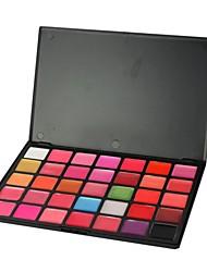 professionele 35 kleuren make-up plaette lipgloss cosmetische set