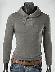 moda casual camisola de malha masculina