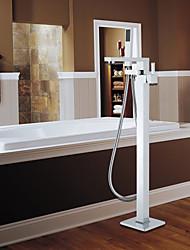 Grifo de bañera / Grifo de ducha - Contemporáneo - De pie / Alcachofa incluida - Latón (Cromo)