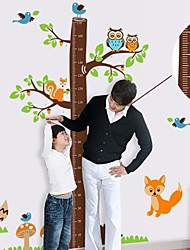 Createforlife® Cartoon Tree Height Chart Kids Nursery Room Wall Sticker Wall Art Decals