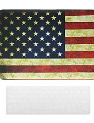 American Flag Design PC Hard Case with Keyboard Cover Skin for MacBook Pro