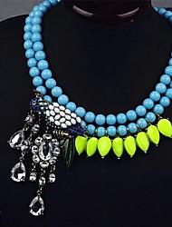 papagaio jóias pingente de strass colar das mulheres