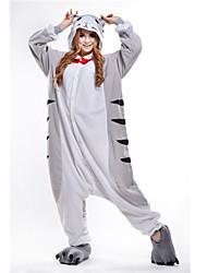 Kigurumi Pajamas Cat Chi's Sweet Home/Cheese Cat Leotard Leotard/Onesie Festival/Holiday Animal Sleepwear Halloween Gray PatchworkPolar