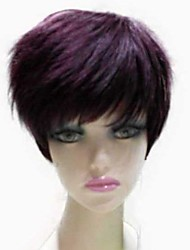 Capless Synthetic Short Straight Side Bang Synthetic Hair Full Wig