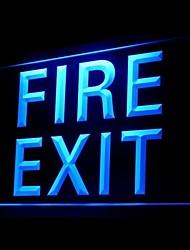 Пожар выхода Реклама светодиодные Вход