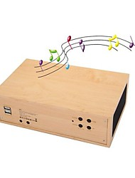 Elegante Alarme W1 Madeira Relógio Bluetooth Speaker Box