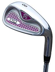 TTYGJ Golf Club Frauen 35,5 Zoll 8 # R / L Zink-Legierung Kopf-Stahlwelle Notwasserung Niblick